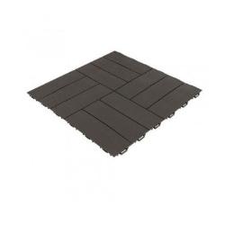 Art plast - Piastrelle Simil-legno Marrone Scuro 563x563x13mm
