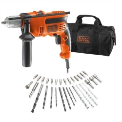 BLACK&DECKER - TRAPANO A PERCUSSIONE REV.710W SET32P