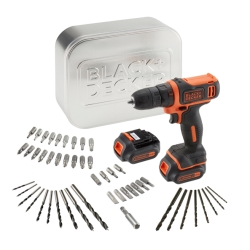 BLACK&DECKER - TRAPANO AVVITATORE BATTERIA 10,8V LITIO