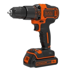 BLACK&DECKER - TRAPANO- AVVITATORE .PERCUSS.18V LITIO 1