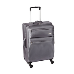 CASA COLLECTION - CASA COLLECTION TROLLEY TESSUTO JACQUARD GRIGIO MEDIO 59 CM