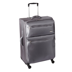 CASA COLLECTION - CASA COLLECTION TROLLEY TESSUTO JACQUARD GRIGIO MEDIO 69 CM