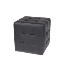 CASA COLLECTION - POUFF ZARA TRAPUNT.ECOP.NERO