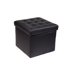 CASA COLLECTION - POUFQUADRO LUCIDO NERO