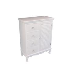 CASA COLLECTION - MOBILETTO 1  ANTA + 4 CASSETTI WHITE ROSE