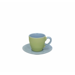 Tognana - CONFEZIONE  6TAZZE  CAFFE CON PIATTINO  PORCELLANA COOL VERDE