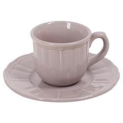 CASA COLLECTION - TAZZA CAFFE CON PIATTO AVIGNONE STONEWARE TORTORA