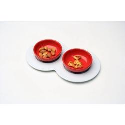 Andrea Fontebasso - Set 3 Pezzi Snack Rosso H120 EB