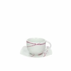Andrea Fontebasso - Tazza The Con Piatto 5127 Violet Power bicchiere e tazza