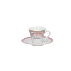 Andrea Fontebasso - Tazza Caffe' con piatto 4556 Patchwork Malva bicchiere e tazza