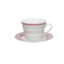 Andrea Fontebasso - Tazza Latte Con Piatto 4556 Patchwork Malva bicchiere e tazza