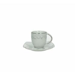 Andrea Fontebasso - Tazza Caffe' con piatto 4330 Satin Gray bicchiere e tazza