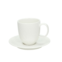 Andrea Fontebasso - Confezione 6tz Caffe'con Piatto 2155 Moon Bianco bicchiere e tazza