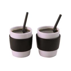 Andrea Fontebasso - Set 2 Tazzine Caffe' Con Cucchiaini Fancy bicchiere e tazza