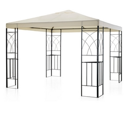 GARDEN COLLECTION - GAZEBO 3X4 POLIES.ECRU