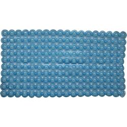 G - TAPPETINO ANTISCIVOLO VASCA MASSAGE BLU TRASPARENTE PVC