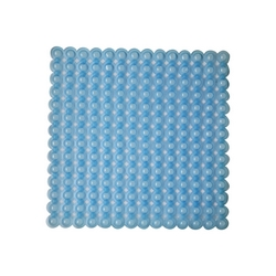 G - TAPPETINO ANTISCIVOLO DOCCIA MASSAGE BLU TRASPARENTE PVC