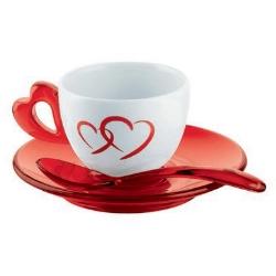 Guzzini - Love Rosso, Trasparente 2pezzo(i)