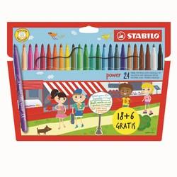 STABILO - confezione 24 pennarelli power  (18+6 gratis)