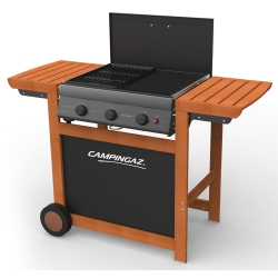 G - 3 Series Classic Adelaide 3 Woody Barbecue Carrello Gas naturale 14000W Nero, Legno