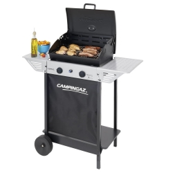 G - 2 Series Classic Xpert 100 L Plus Rocky Barbecue Carrello Gas naturale 7100W Nero, Argento