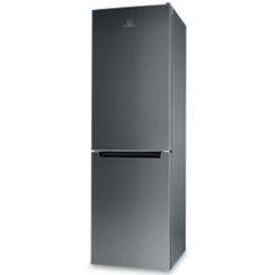 Indesit - LI80 FF1 X Libera installazione A+ Acciaio inossidabile frigorifero con congelatore