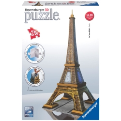 Ravensburger - PUZZLE 3D BUILD.TOUR EIFFEL