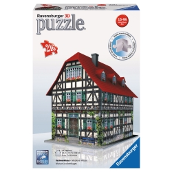 Ravensburger - PUZZLE 3D BUILD.CASA MEDIOEVAL