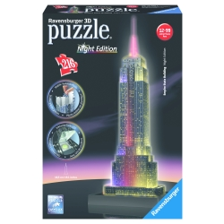 Ravensburger - PUZZLE 3D EMPIRE STATE B.NIGHT