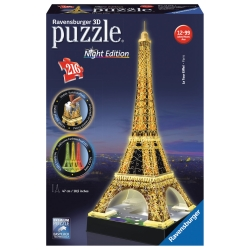 Ravensburger - PUZZLE 3D TOUR EIFFEL B.NIGHT