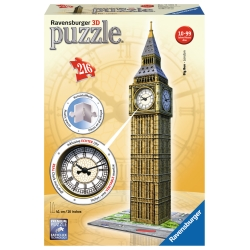 Ravensburger - PUZZLE 3D BIG BEN REAL CLOCK