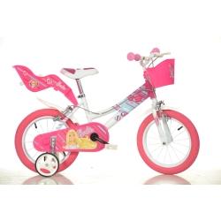 DINO BIKES - 146R-BA Ragazze Metallo Rosa, Bianco bicicletta
