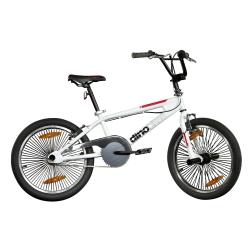 """DINO BIKES - BMX 20"""" Adulto unisex BMX Metallo Nero, Rosso bicicletta"""