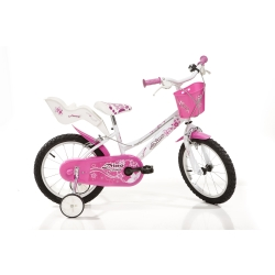 DINO BIKES - 166RSN Ragazze Metallo Rosa, Bianco bicicletta