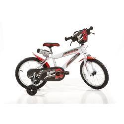 DINO BIKES - 416US Ragazzi Metallo Nero, Rosso, Bianco bicicletta