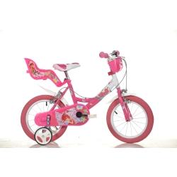 DINO BIKES - 144R WXA Ragazze Metallo Rosa, Bianco bicicletta