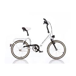 DINO BIKES - Bici Pieghevole 20 Bianca