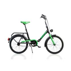 DINO BIKES - Bici Pieghevole 20 Nero/Verde