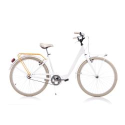 DINO BIKES - 1026CY Adulto unisex Città Bianco bicicletta