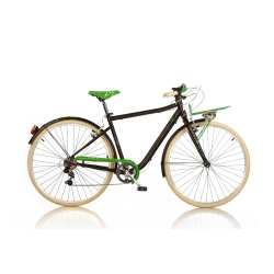 DINO BIKES - 1028STU Adulto unisex Città Nero, Verde bicicletta