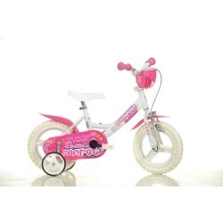 DINO BIKES - 124RLN05DB Ragazze Metallo Rosa, Bianco bicicletta