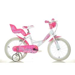 DINO BIKES - 164RN 05DB Ragazze Metallo Rosa, Bianco bicicletta