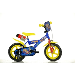 DINO BIKES - Sam il pompiere Bambino unisex Città Metallo Blu, Giallo bicicletta