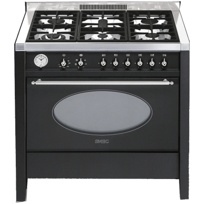 Smeg Cucine CS18A-7 Libera installazione Gas hob A Nero cucina ...