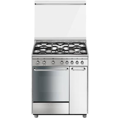 Smeg Cucine CX81SV2 Libera installazione Gas hob A Acciaio ...