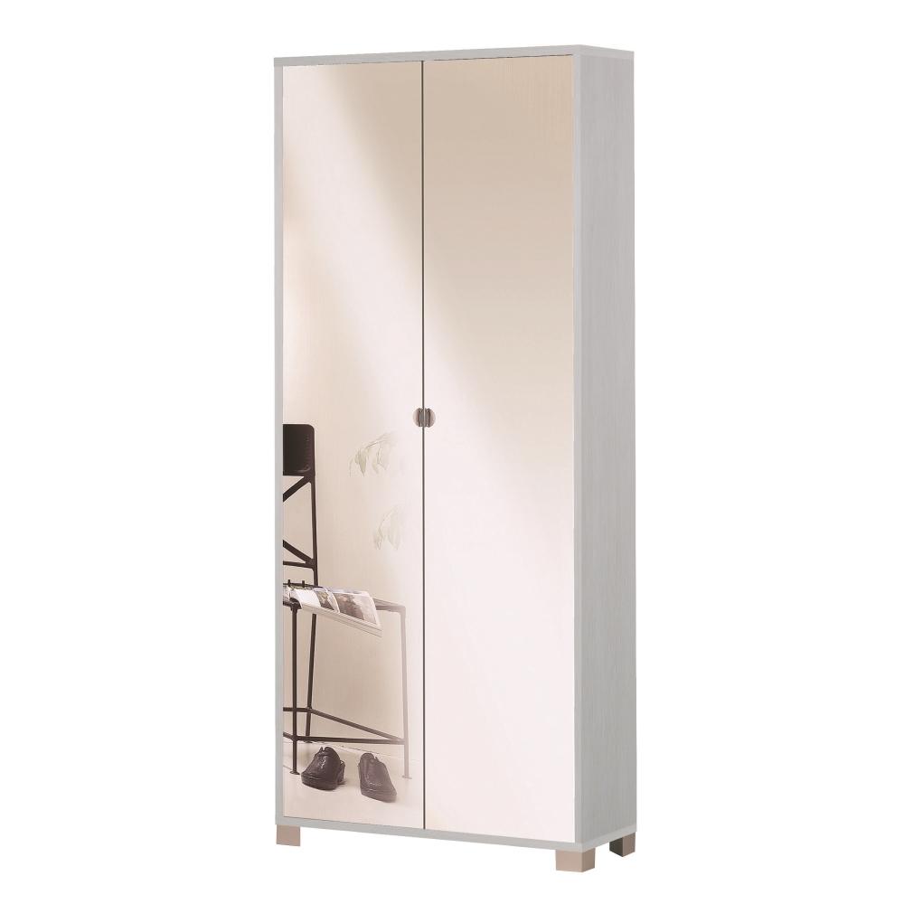 G scarpiere armadio 2 ante specchio pino shop online su grancasa - Armadio specchio ikea ...