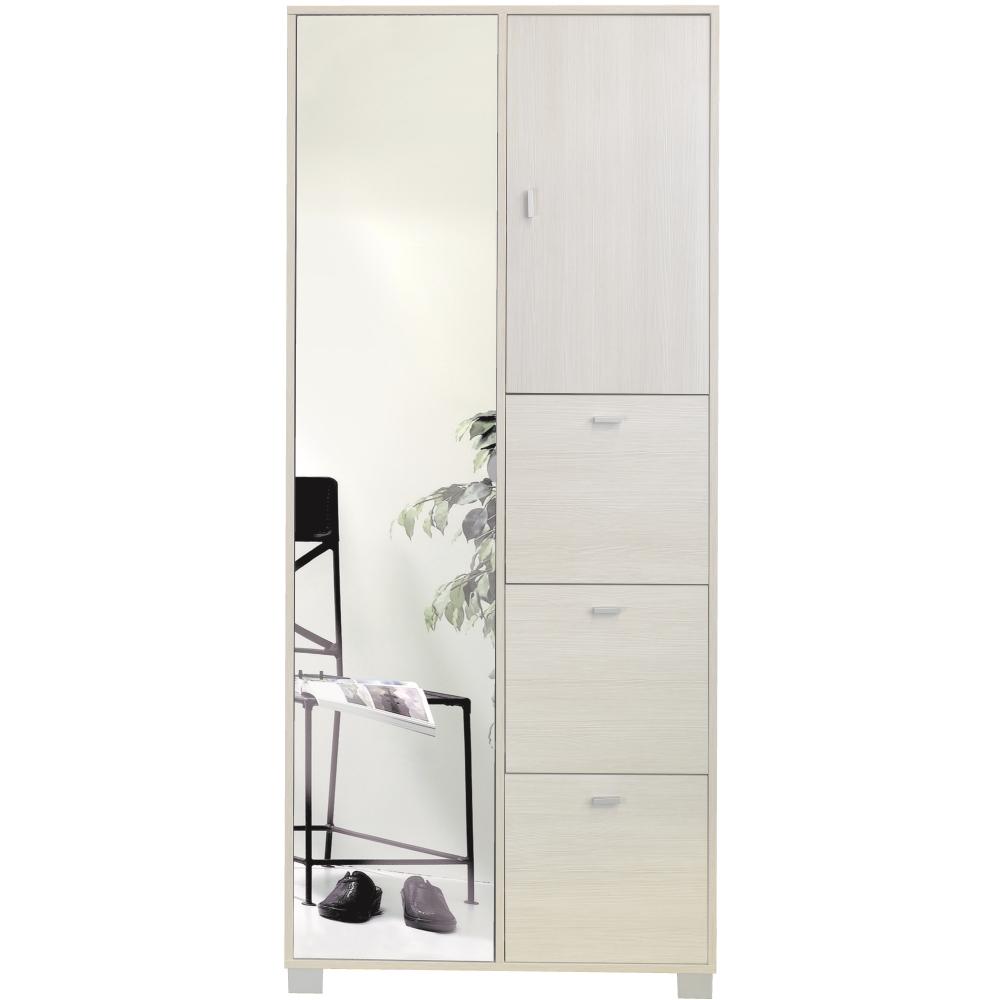 G scarpiere mobile porta scarpe 1 anta specchio pino shop online su grancasa - Mobili a specchio ...