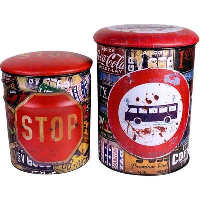 RS094 POUF PVC+MET.30X30X37 BUS STOP FRH