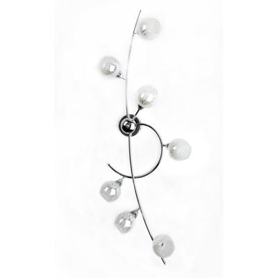 Novecento plafoniere plafoniera 7l cromata omo vetro sfera bianco shop online su grancasa - Grancasa lampadari ...