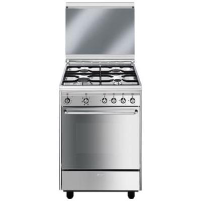 Smeg Cucine CX51SV Libera installazione Gas hob A Acciaio ...